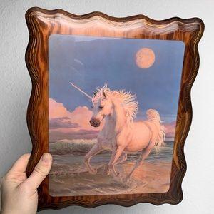 Vintage Unicorn on the Beach Art 70's 80's 90's